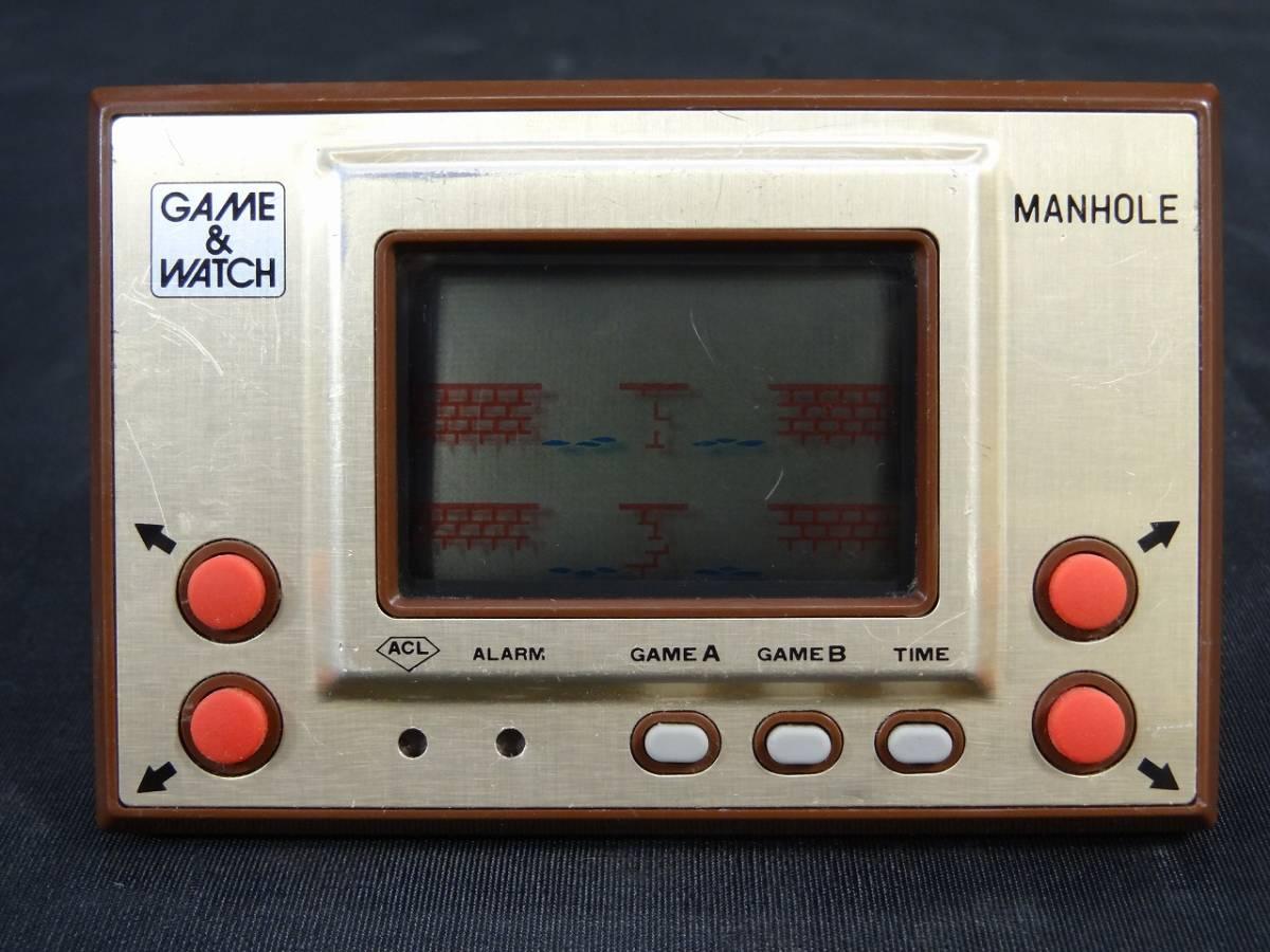 K5062★GAME&WATCH ゲームウォッチ MANHOLE マンホール MH-06 任天堂 1981年 当時物★_画像1