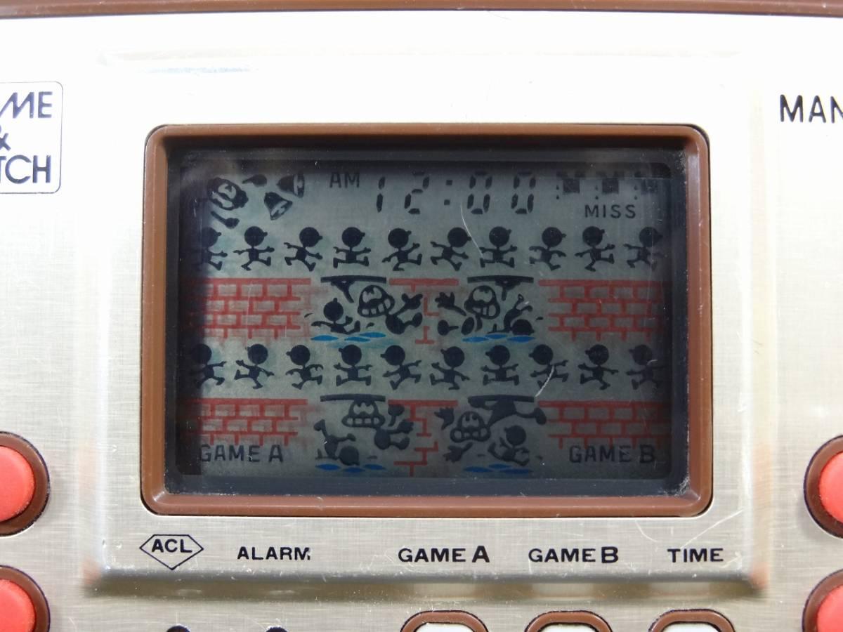 K5062★GAME&WATCH ゲームウォッチ MANHOLE マンホール MH-06 任天堂 1981年 当時物★_画像2