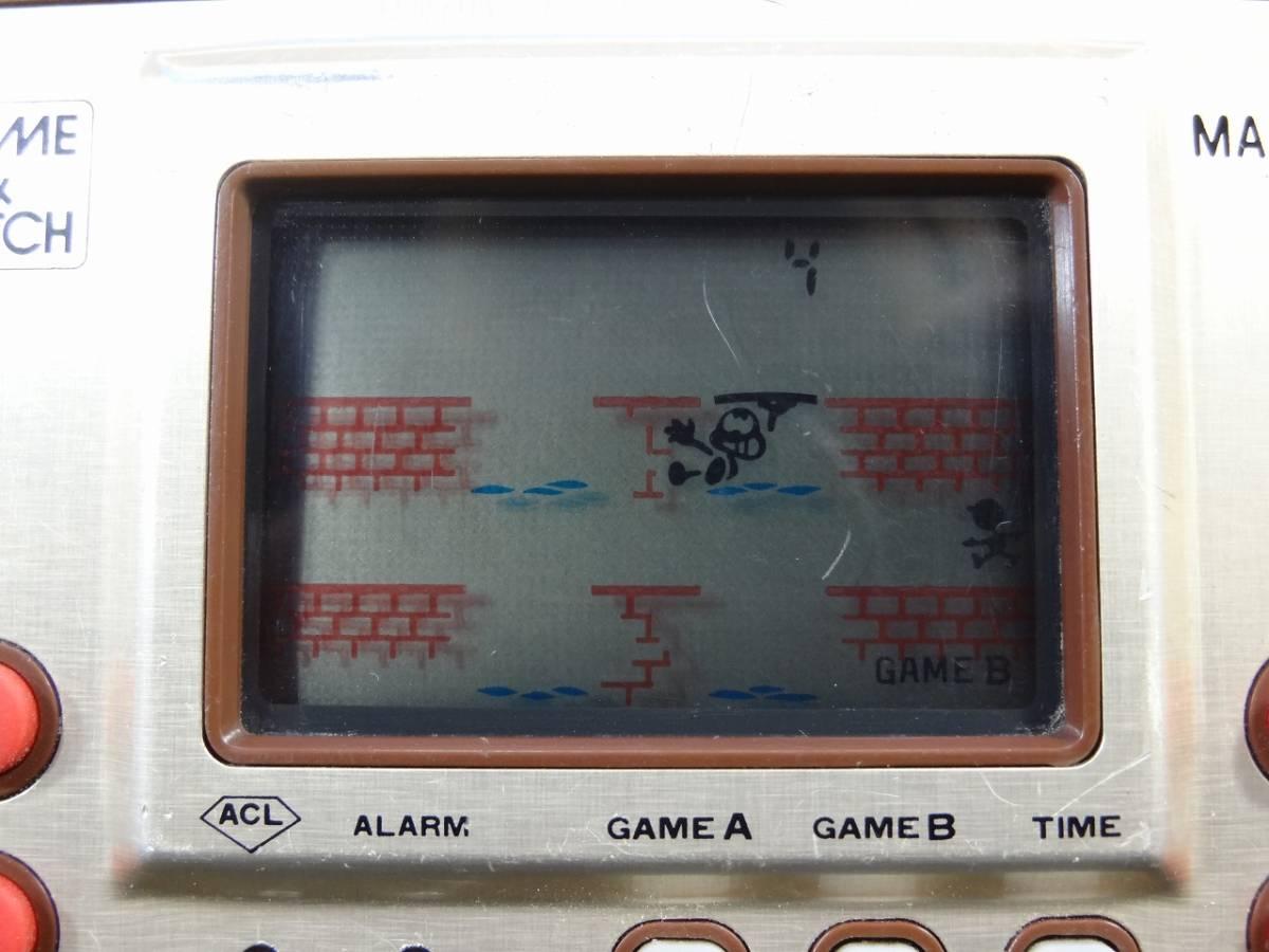 K5062★GAME&WATCH ゲームウォッチ MANHOLE マンホール MH-06 任天堂 1981年 当時物★_画像4