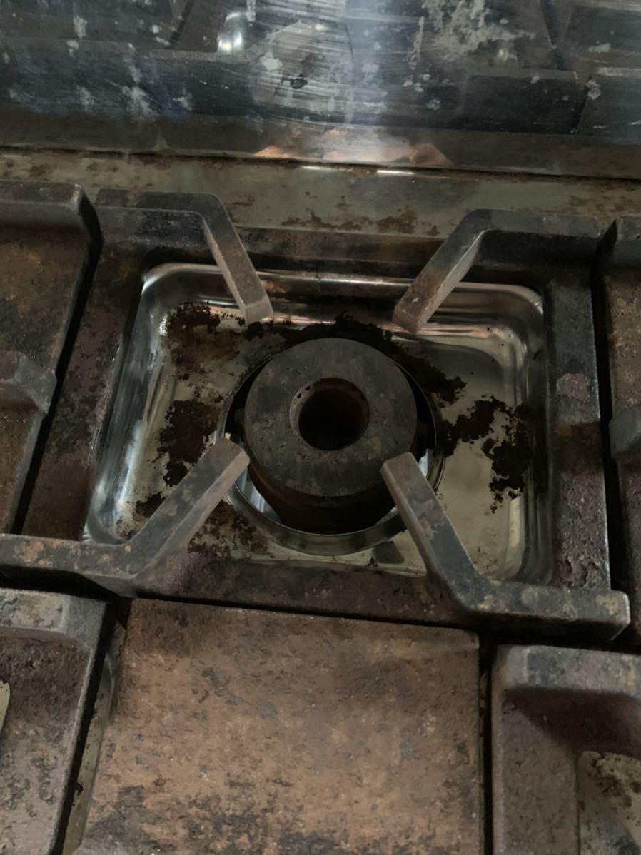 オザキ ガスコンロ 3口コンロ 都市ガス用 90-60D ジャンク品_画像7