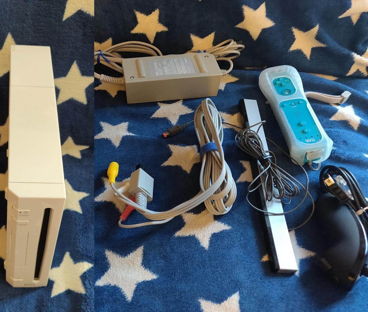 Nintendo Wii本体、リモコン モーションプラス、付属品一式 セット