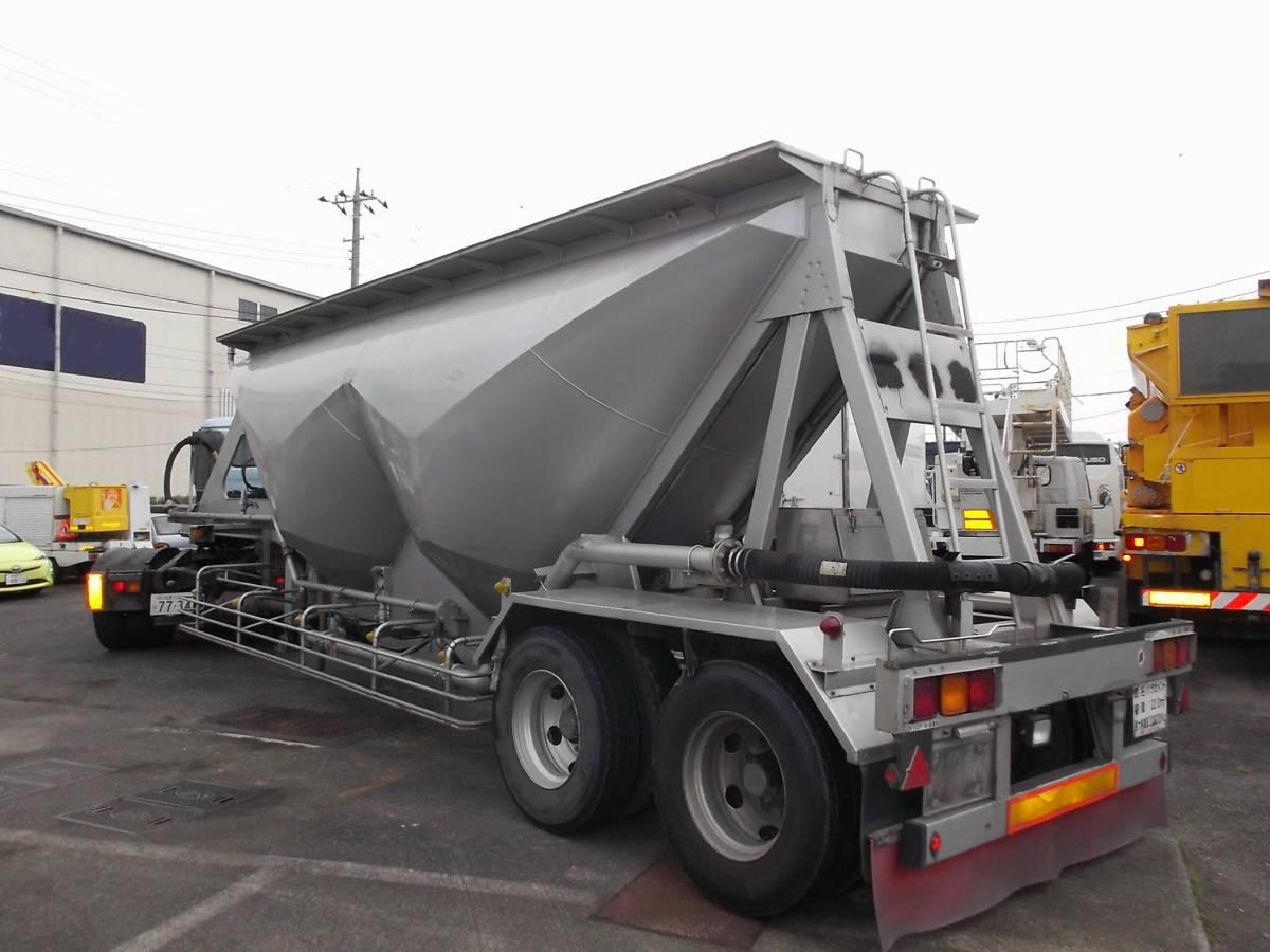 ★H9年10月 日本トレクス 粉粒体運搬 セミトレーラー 2層 22t_画像4