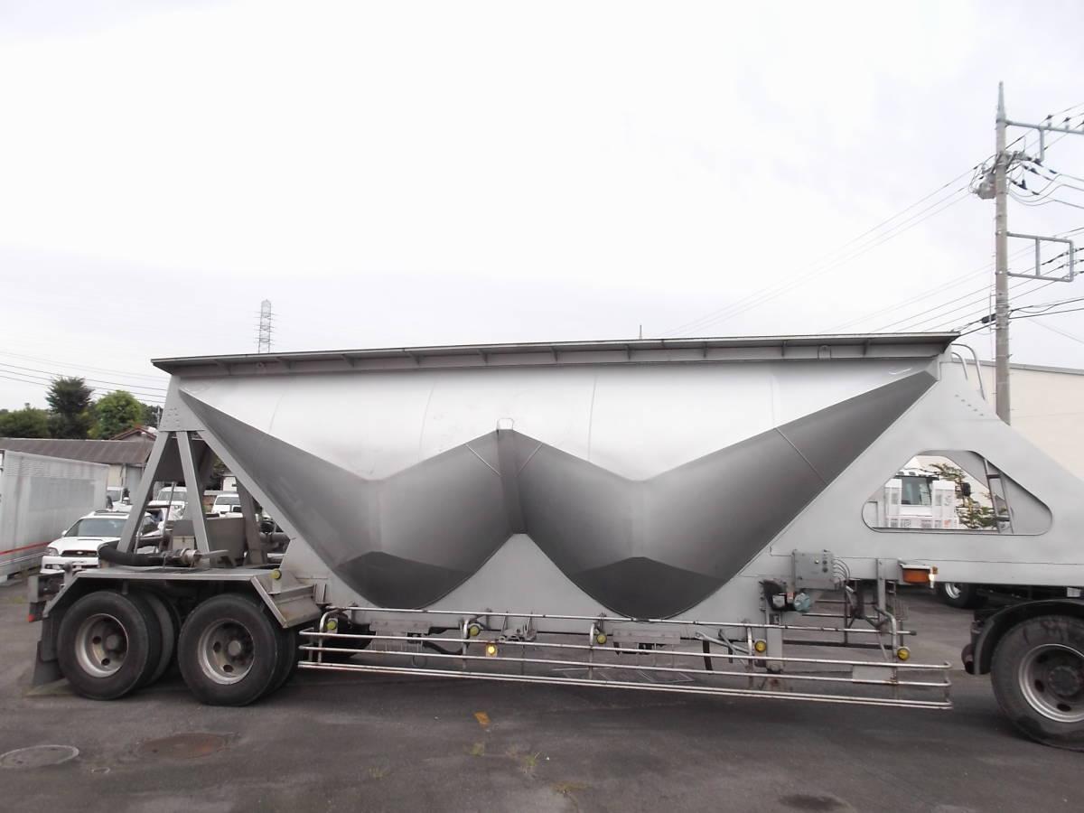 ★H9年10月 日本トレクス 粉粒体運搬 セミトレーラー 2層 22t_画像6