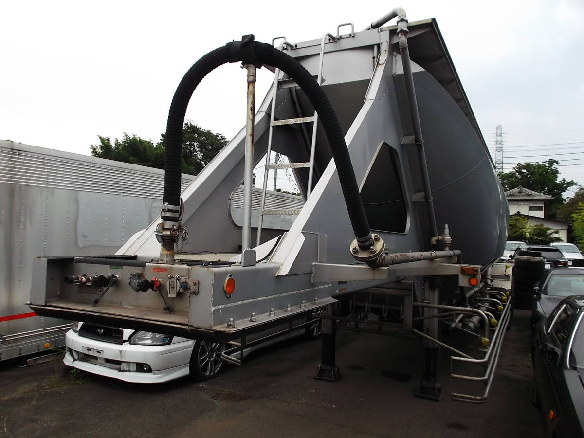 ★H9年10月 日本トレクス 粉粒体運搬 セミトレーラー 2層 22t_画像8