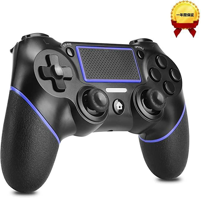 PS4 コントローラー ワイヤレス ps4 PCゲーム bluetooth 青