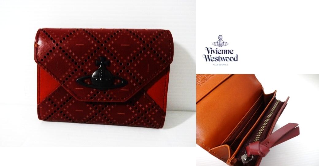 ヴィヴィアン ウエストウッド アクセサリーズ Vivienne Westwood Accessories パンチングレザー 小銭入れ コインケース オーヴ WR 新品