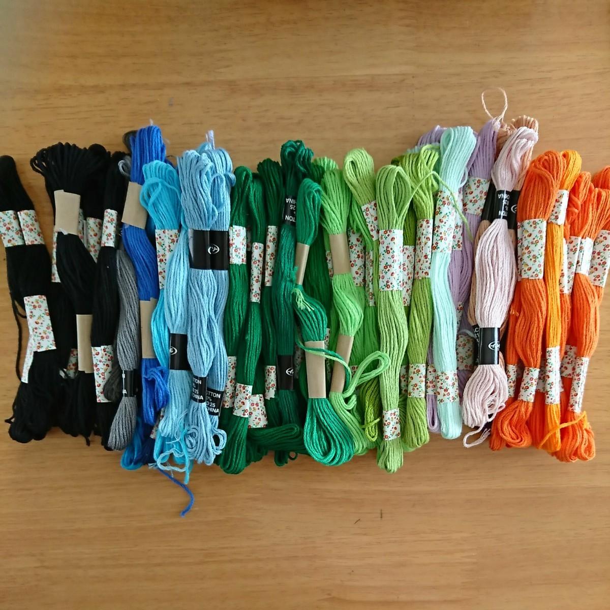 刺繍糸  まとめて  65本