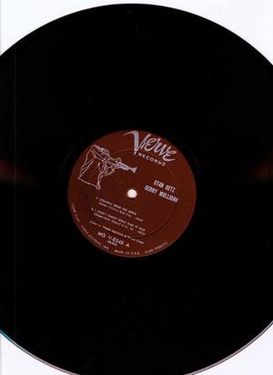 JAZZ RECORD (5260g)【Stan Getz & G.Mulligan_Stan Getz】 Verve 8348/tpt _画像3