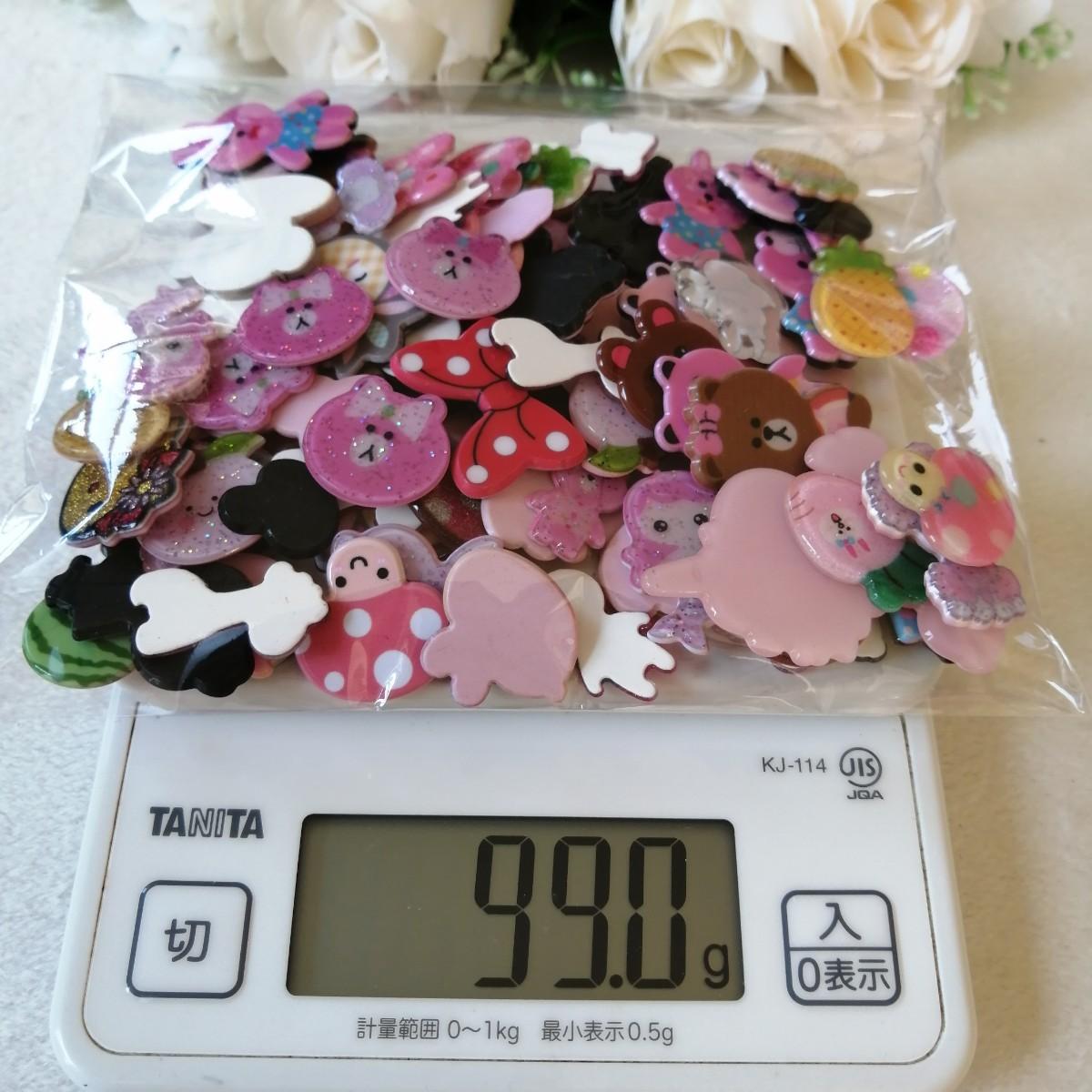 デコパーツ プラパーツ ハンドメイド 手作り 熊 果物 花台 材料 大量 兎 1