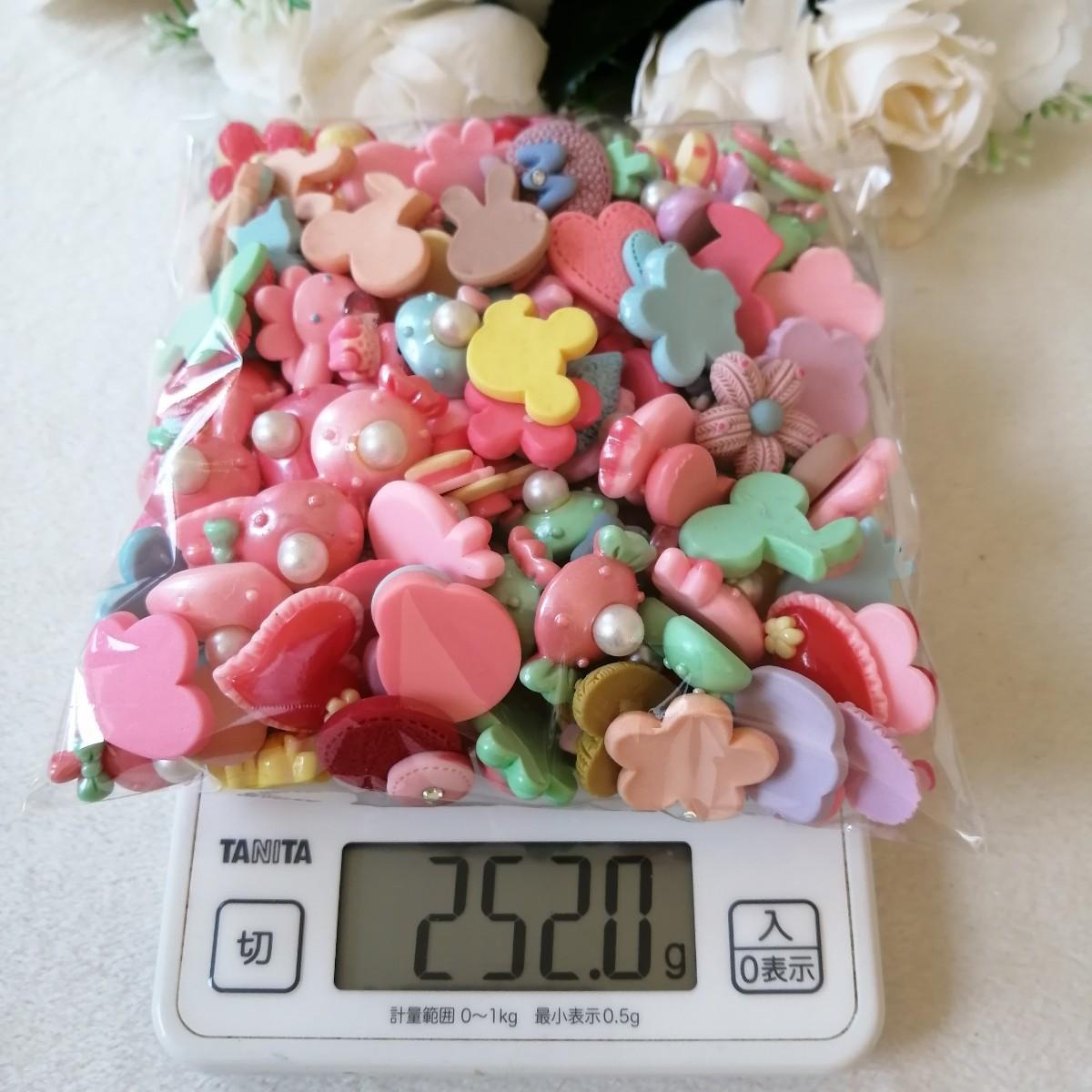 デコパーツ プラパーツ ハンドメイド 手作り 花台 材料 大量 真珠色 お花 1