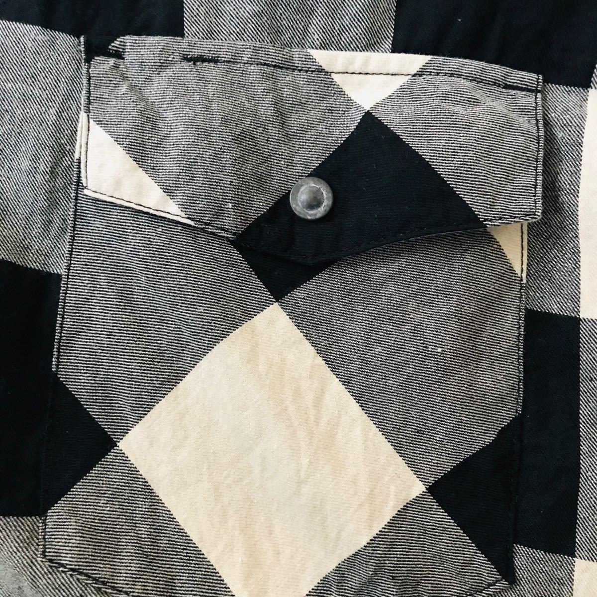 schott  チェック柄 シャツ 半袖 メンズ L