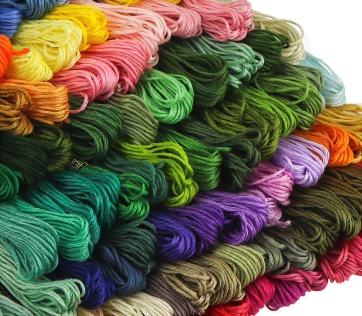 刺繍糸 糸 100色 ししゅう糸 パッチワーク ハンドメイド キット 手芸
