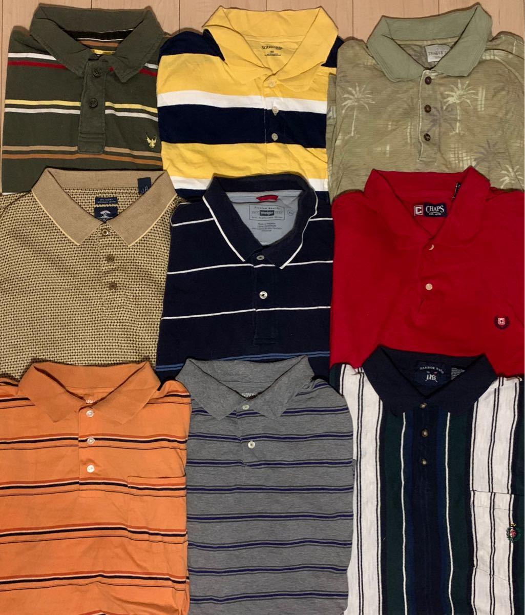 夏物セール USA古着 メンズBIGサイズポロシャツ 9枚 まとめ売り