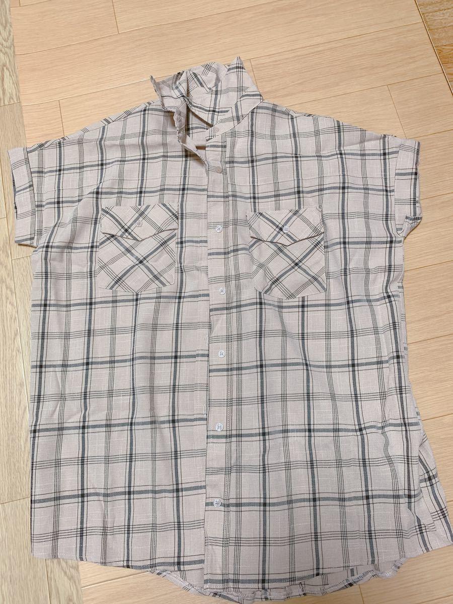 半袖シャツ チェック柄 チェックシャツ