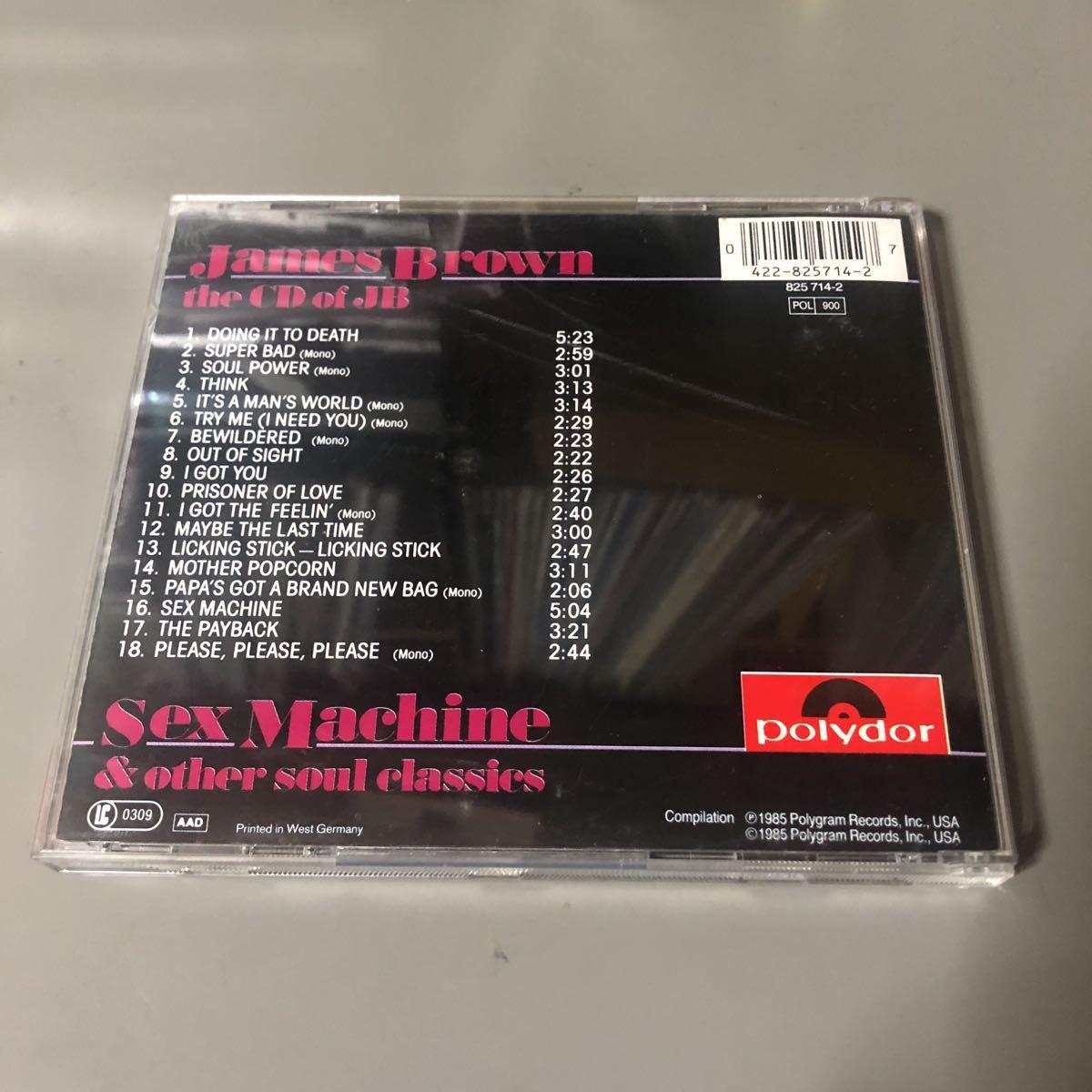 ジェームス・ブラウン  the CD of JB EU盤CD