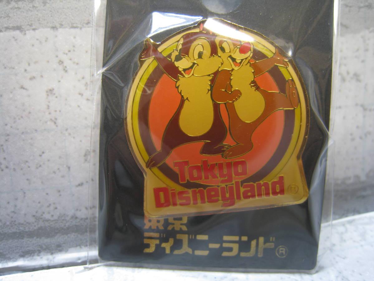18 TDL 東京ディズニーラン チップ&デール ピンバッジ 未使用 TDL_画像1