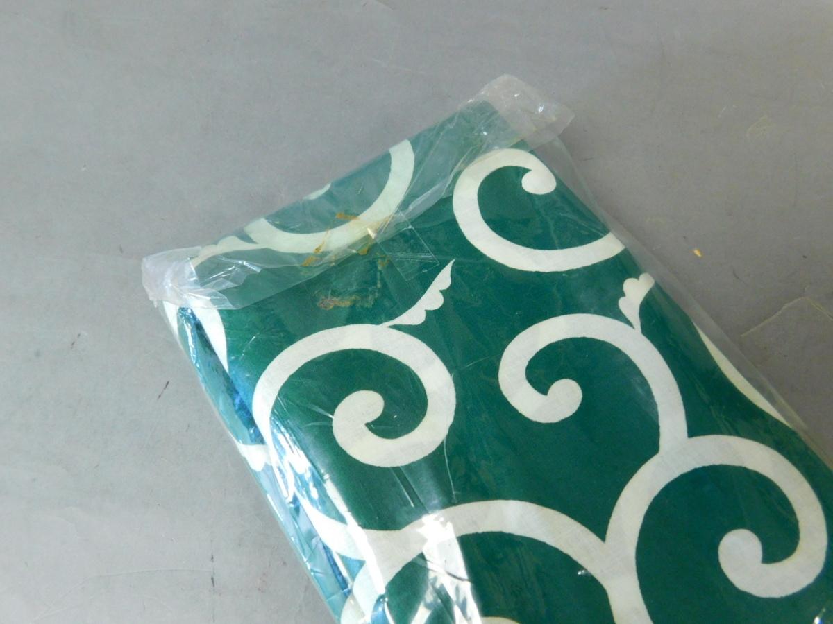 緑白 唐草模様 実用御風呂敷 木綿 七布(7号)昭和レトロ 長期保管品 g20080939_画像7