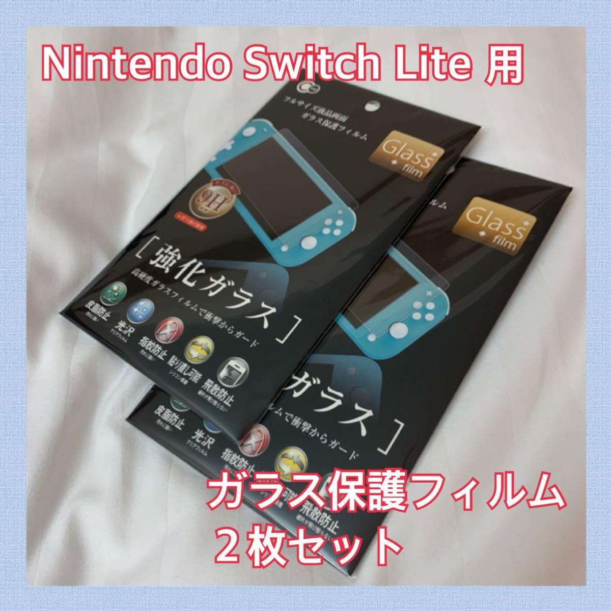 【Nintendo Switch Lite 用】ガラス保護フィルム 2枚セット