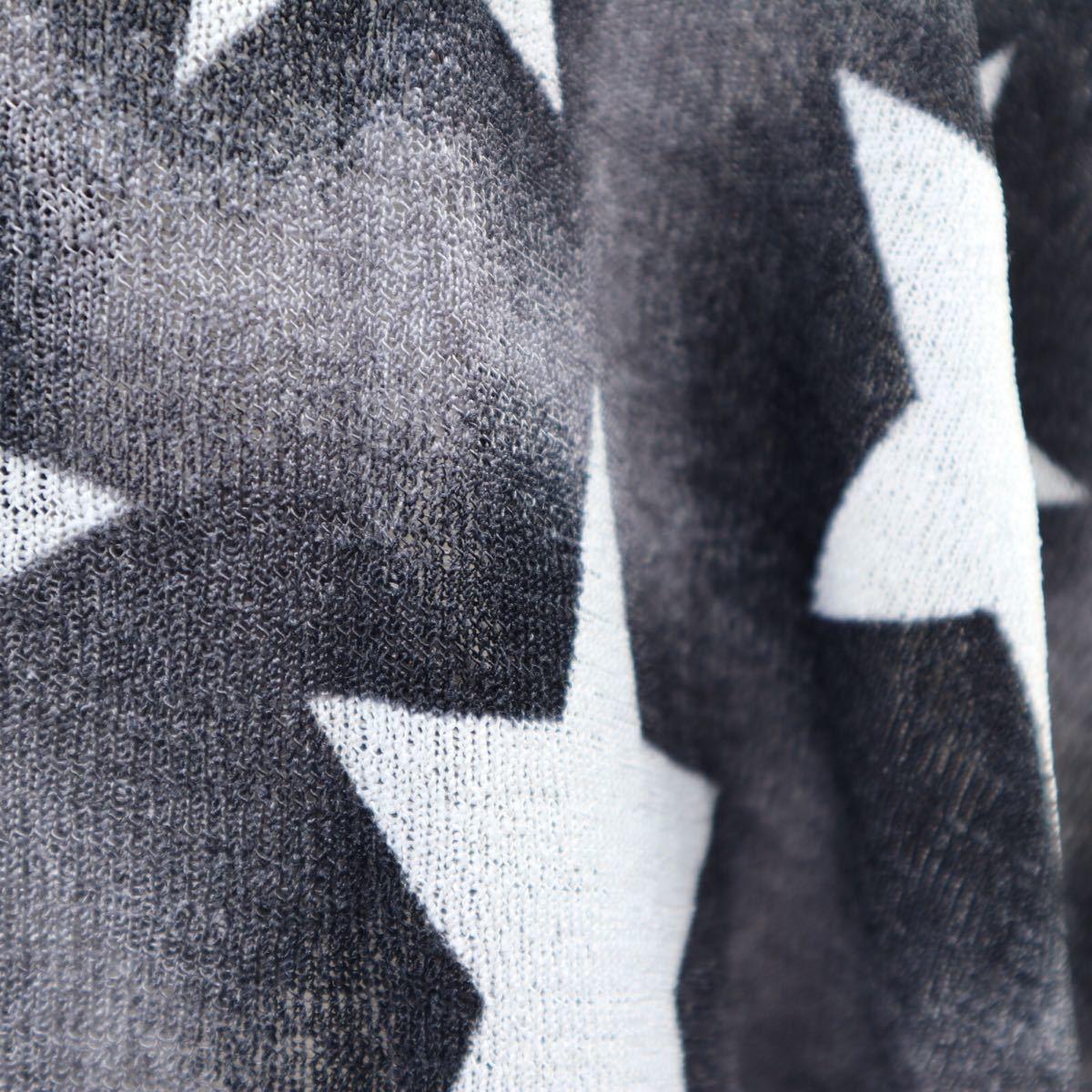 ドルマン 星柄 グレー サマーニット カーディガン 水着 トップス