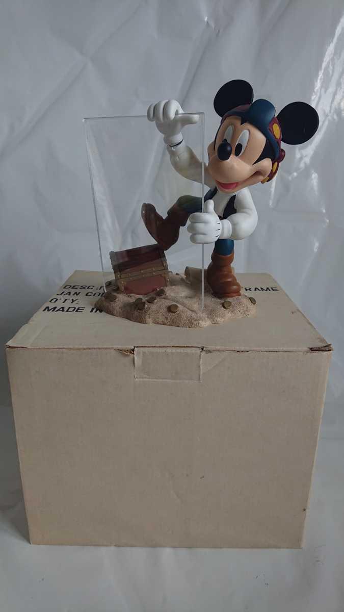 激レア! 廃盤! 入手困難! ミッキーマウス 海賊 フォトフレーム MICKEY MOUSE 陶器製 オブジェ インテリア 置物_画像6