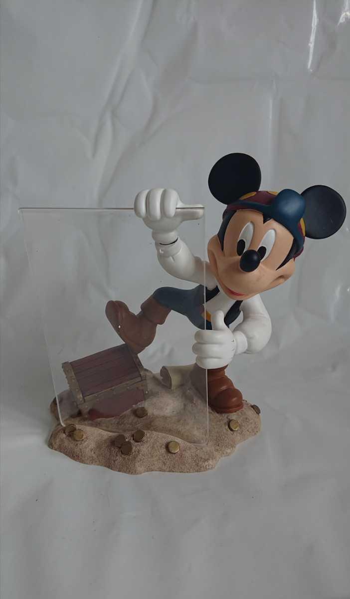 激レア! 廃盤! 入手困難! ミッキーマウス 海賊 フォトフレーム MICKEY MOUSE 陶器製 オブジェ インテリア 置物_画像1