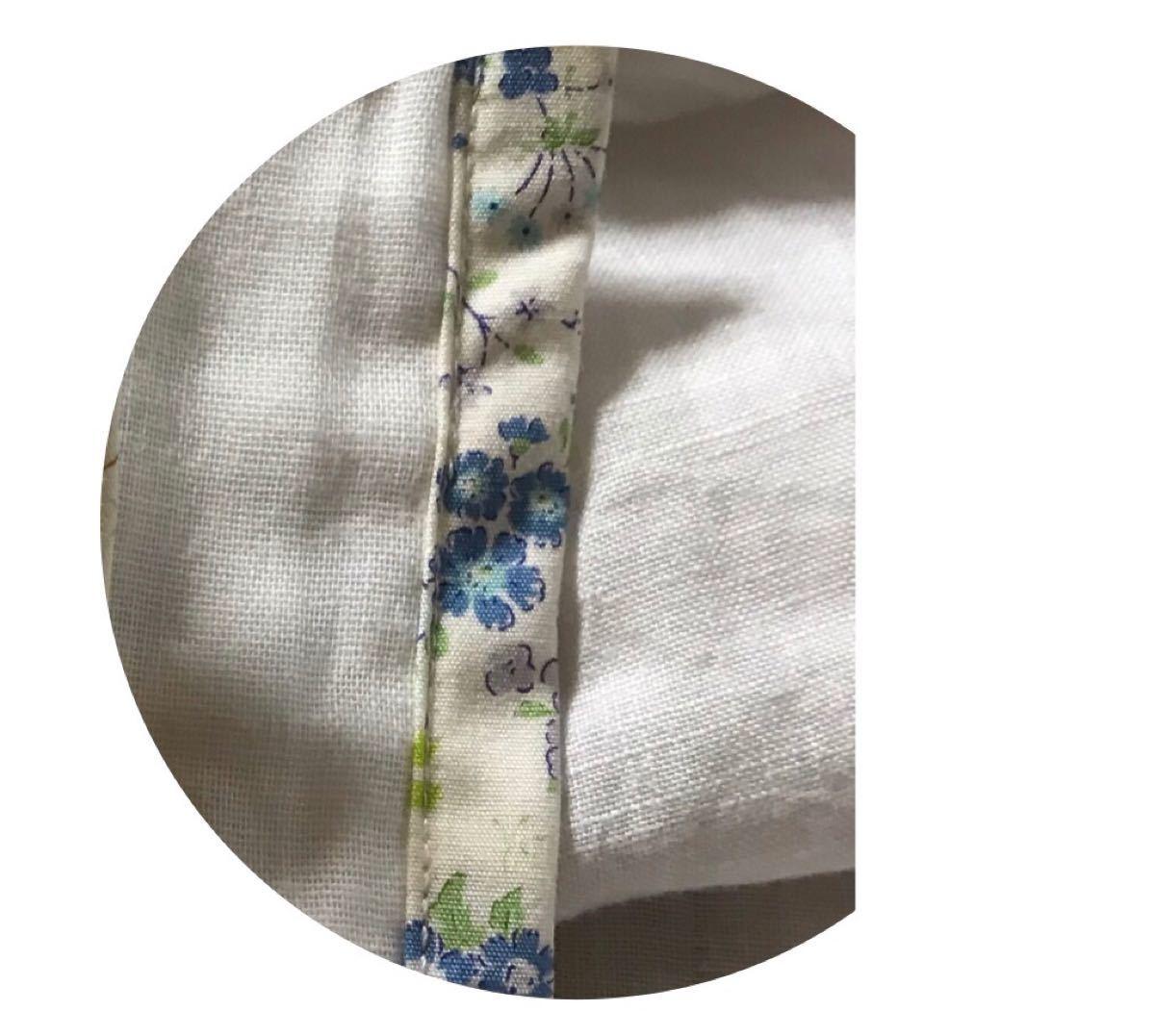 ハンドメイド ブルーパープル系小花柄 立体インナー