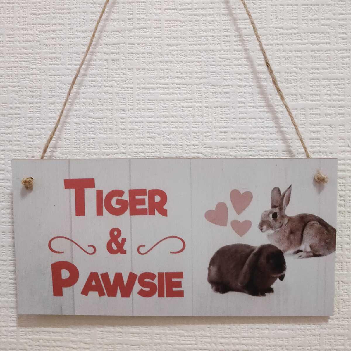 新品 送料無料 ウサギ welcome ウェルカムボード うさぎ 小動物 グッズ ロップイヤー ホーランドロップ 玄関 木製 プレート_画像1
