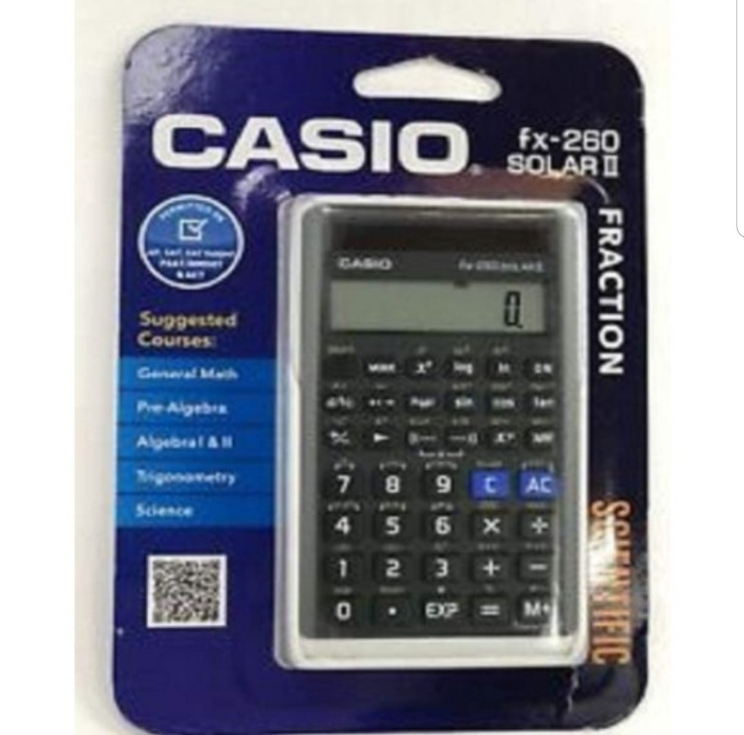 CASIO カシオ関数電卓 fx-260 SOLAR ll