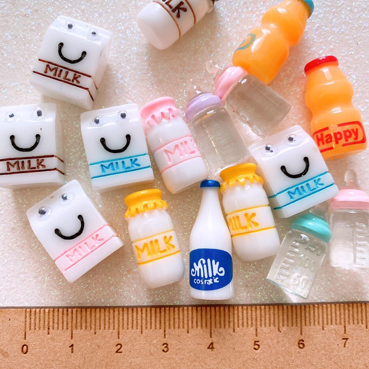 ☆デコパーツ ☆ 限定1セット ミルクデコパーツ  15個セット