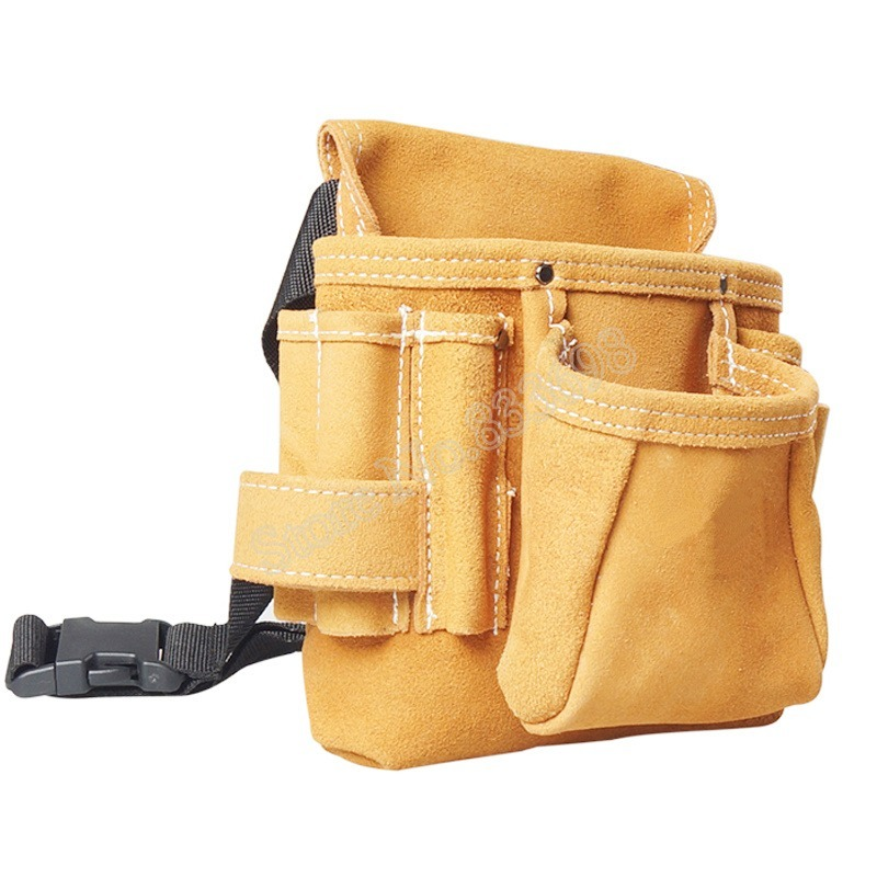 ◆最安にします◆ 工具腰袋 ウエストツールバッグ 工具差し 収納 道具袋 大容量 大工ツールバッグ 工具入れ DIY 道具箱 牛革 AT9317_画像4