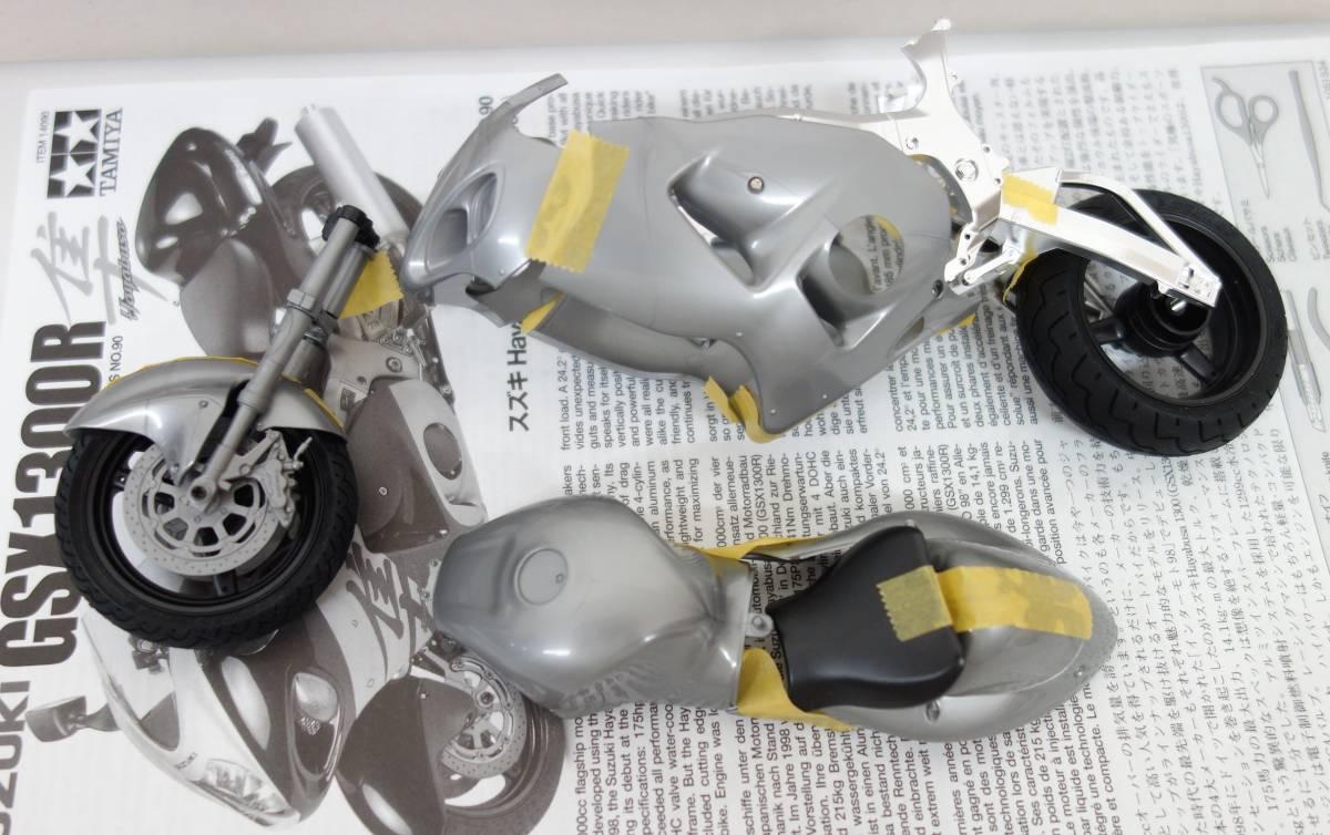 レトロ コレクション *TAMIYA タミヤ  *1/12 オートバイシリーズ *NO.90 スズキ HAYABUSA1300  GSX1300R 隼  _画像7