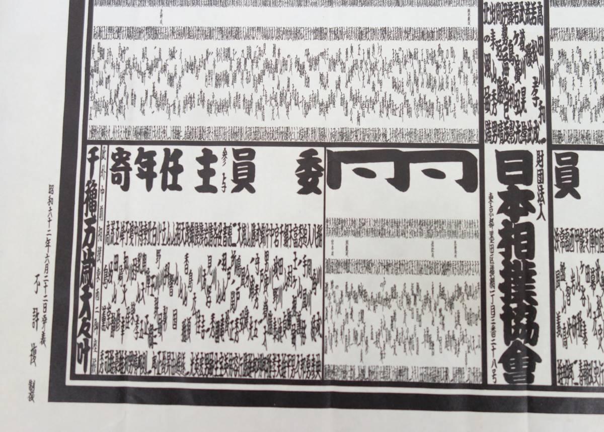 レトロ コレクション*昭和六十二年六月発表 *大相撲ついたて  木製 番付票 番付板  *昭和六十二年 夏場所 *大島部屋 旭桜隆秀_画像10