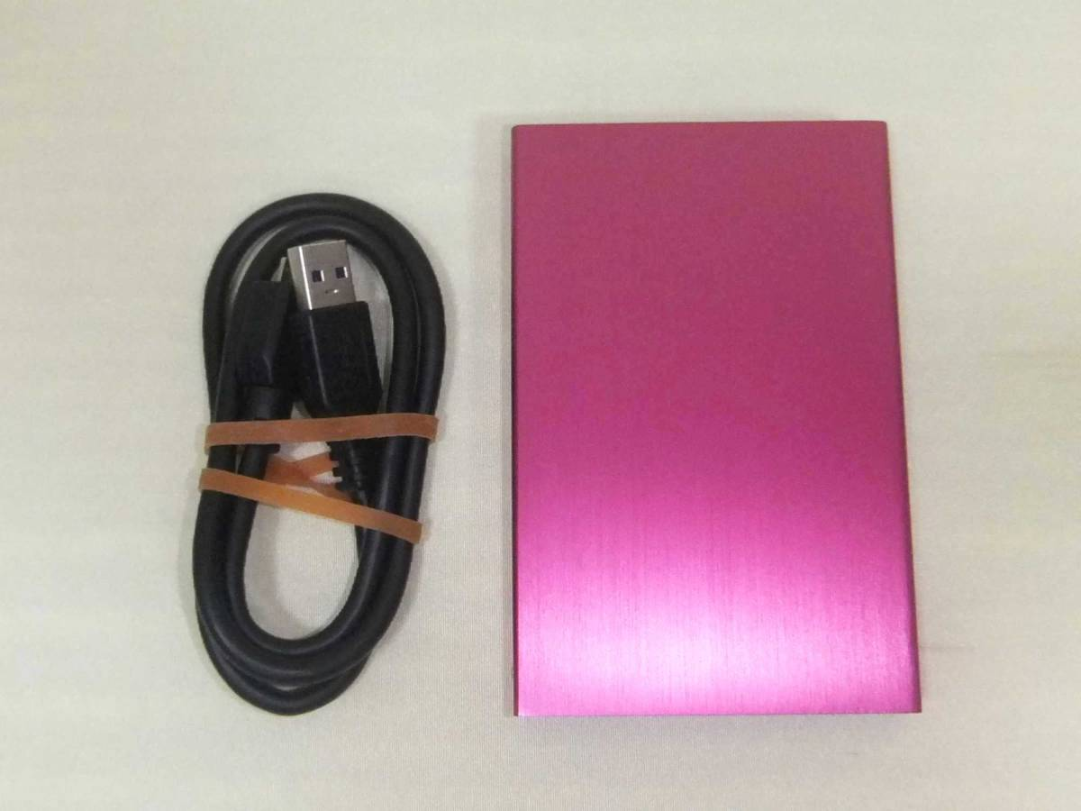 ポータブル ハードディスク (玄人志向 USB3.0 HDDケース) + (内蔵 1TB HDD) 中古品
