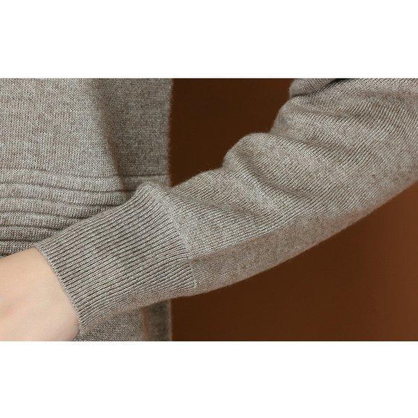 ニットワンピース 秋冬ワンピ 膝丈 暖かい 長袖 無地 シンプル ライン 定番 ベージュ イエロー レッド ブラック カーキ旅行 母親 可愛い