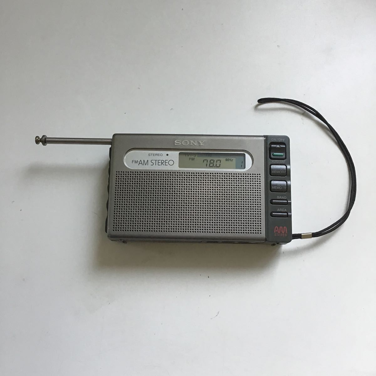 SONY SRF-M100 ソニーラジオ FM/AM STEREO ジャンク品 (715)