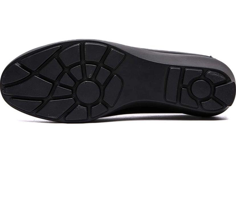 黒 パンプス スムース 足囲3E パンプス 歩きやすい ウェッジヒール4.0cm
