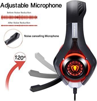 赤 BlueFire PS4 ヘッドセット ゲーミングヘッドセット 重低音 Xbox one ゲーミングヘッドホ ボリュームコ_画像6