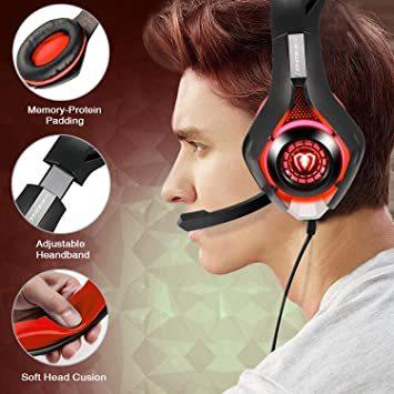 赤 BlueFire PS4 ヘッドセット ゲーミングヘッドセット 重低音 Xbox one ゲーミングヘッドホ ボリュームコ_画像5