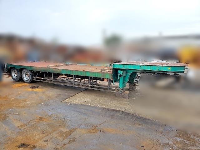「現状渡 売切 実働品 東急 セミトレーラ TL23588 全長10.9m 2軸 床鉄板 最大積載量 25トン 荷台 ニッサン UD 期間限定出品」の画像1