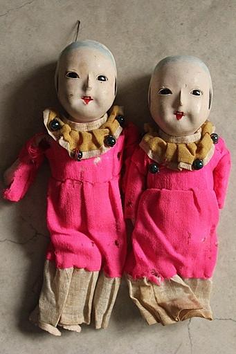 古い市松人形 2点セット 日本人形