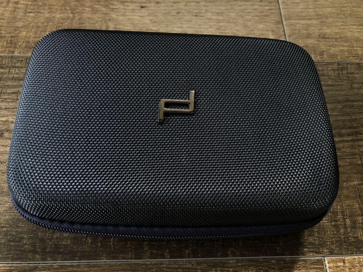☆Porsche ポルシェ デザイン オリジナル ハードケース ポーチ バッグ ネイビー 新品未使用 非売品☆
