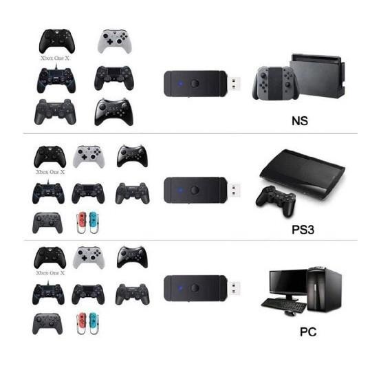 PS4/PS3/スイッチ コントローラー 変換アダプター コンバーター