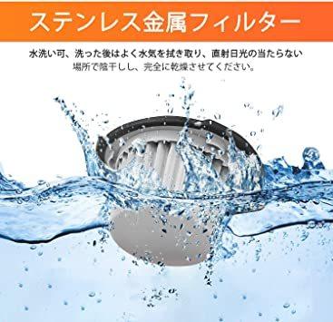 ハンディクリーナー 車用掃除機 ハンディ掃除機 コードレスクリーナー 超強吸引力 多機能 充電式 小型 軽量 静音 LEDライ_画像7
