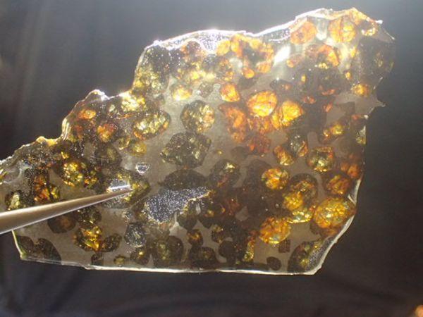 抜け感最高!セリコ隕石 パラサイト ペリドット 橄欖石 石鉄隕石 ケニア Sericho P