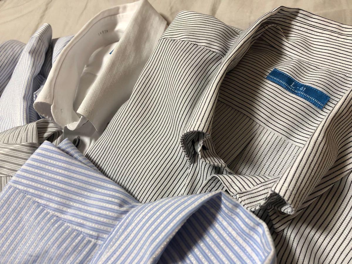 半袖 Yシャツ セット 形状記憶 ボタンダウン クールビズ レギュラー L-81