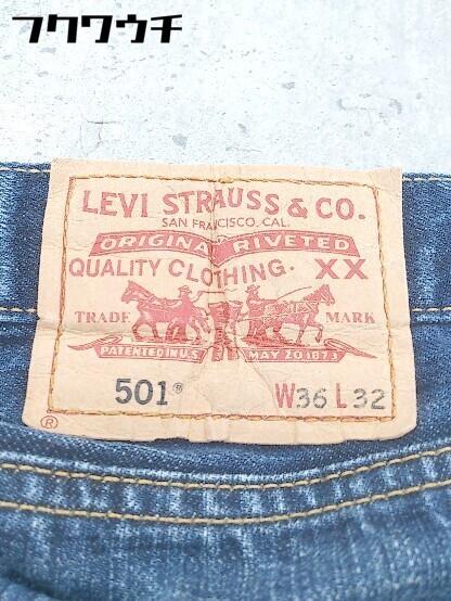 ◇ Levi's リーバイス 501 XX ボタンフライ ダメージ加工 ジーンズ デニム パンツ サイズ36/32 インディゴ メンズ_画像3