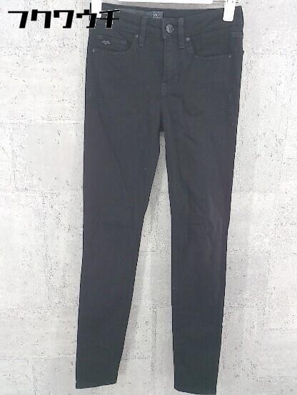 ◇ Armani Exchange スキニー ストレッチ ジーンズ デニム パンツ サイズ24R ブラック レディース