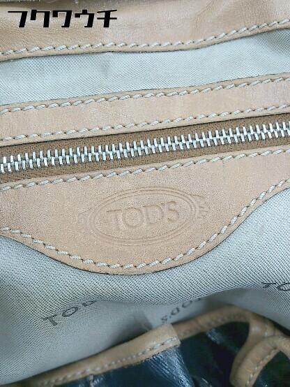 ■ ◎ TOD'S トッズ ハンド バッグ ネイビー レディース_画像3