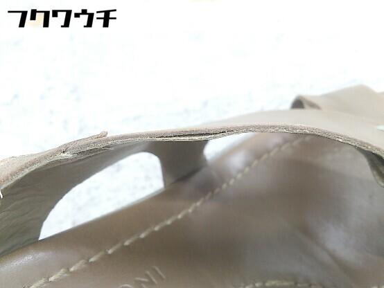 ◇ ◎ FABIO RUSCONI ファビオ ルスコーニ ウェッジソール サンダル 24.5㎝相当 ブラウン レディース_画像5