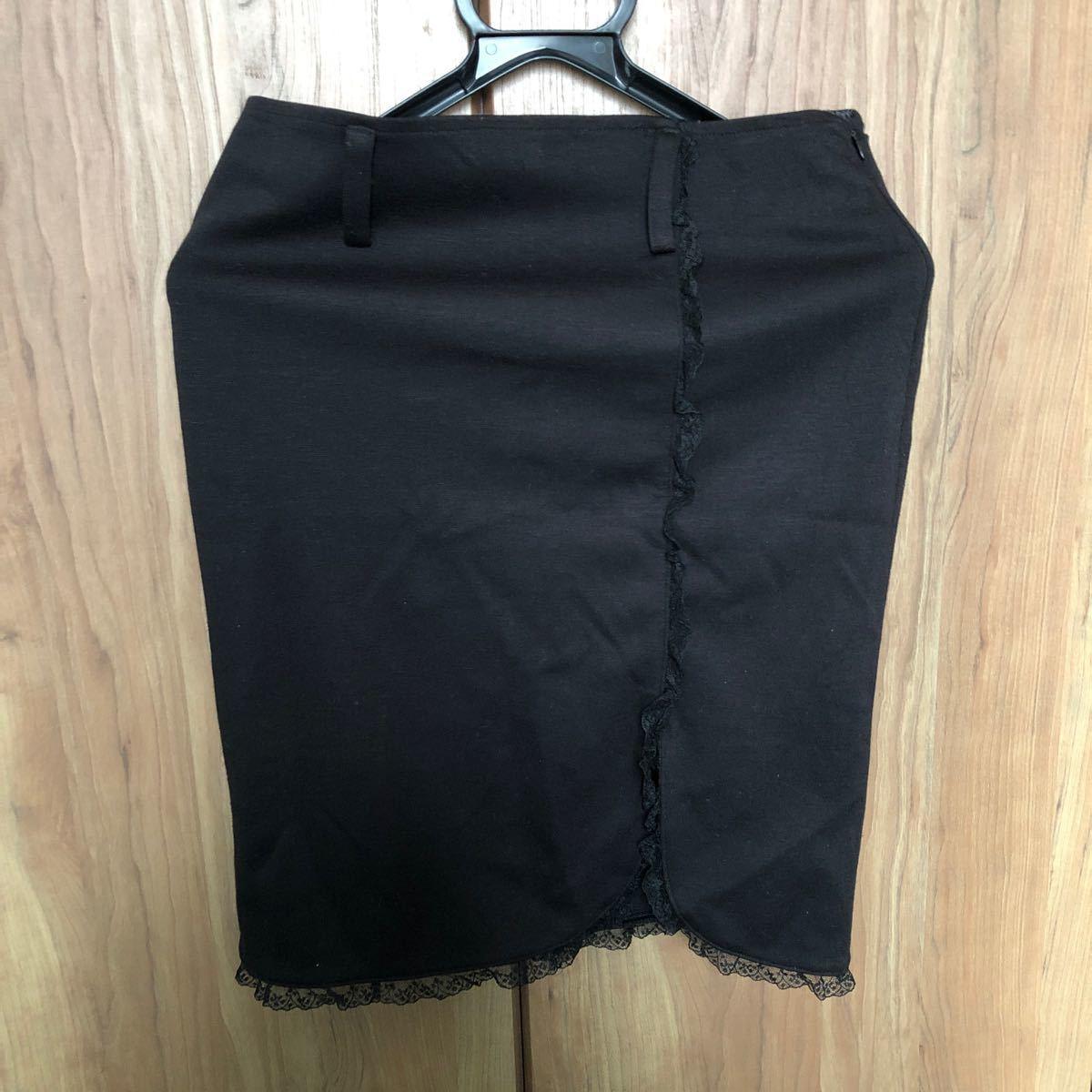 タイトスカート 黒スリットあり